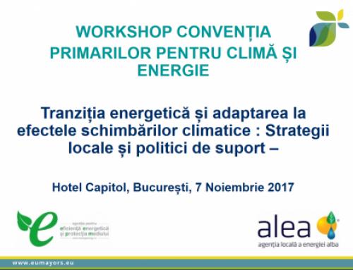 WORKSHOP- CONVENȚIA PRIMARILOR PENTRU CLIMĂ ȘI ENERGIE